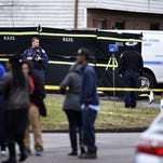 North Nashville triple murder crime scene in December 2015.