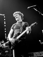 Kris Kristofferson, appearing with his ace band of pickers, introduces newly composed songs during his set at Volunteer Jam XI on Feb. 2, 1985, at Municipal Auditorium.