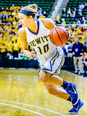 DeWitt's Claudia Reid, who is headed to Princeton, averaged 10.7 points, 6.7 assists and 3.2 steals during the regular season.