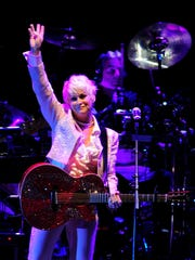 "Lorrie Morgan sings ""Picture of Me"" at the 'Playin' Possum: The Final No Show' in the Bridgestone Arena on Friday, November 22nd, in Nashville, Tenn."