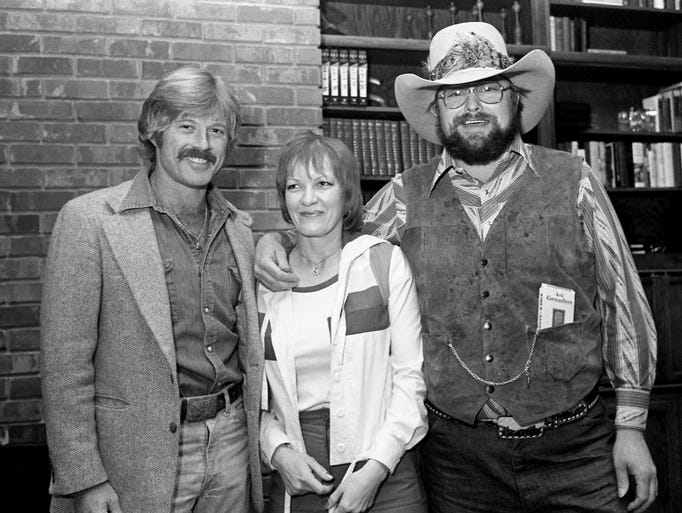 Robert Redford, left, gets together with Hazel and