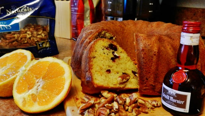 The Happy Baker's cranberry, orange, pecan pound cake.makes for a moist and tasty winter treat.