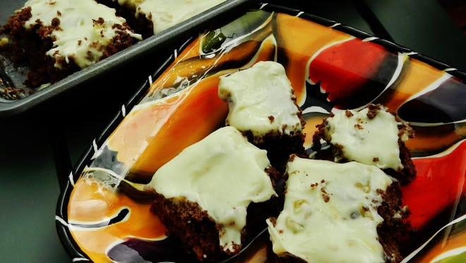 Hatch green chile brownies