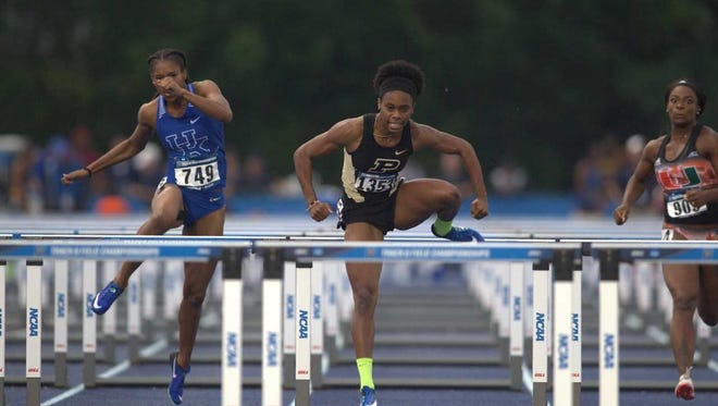 Purdue redshirt junior Devynne Charlton is the first to sweep Big Ten Track Athlete of the Year and Athlete of the Championships awards for indoors and outdoors.