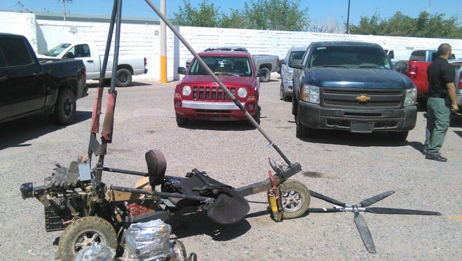 An ultralight aircraft allegedly used to fly drugs over the border was seized by Mexican authorities near El Porvenir, Chihuahua.
