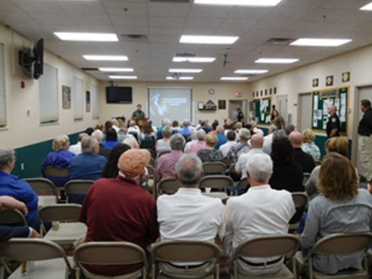 More than 75 Citizen's Academy alumni attended the