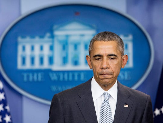 President Obama makes a statement about the violence