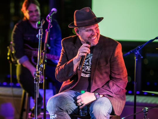 MercyMe talks to the audience and play tracks from