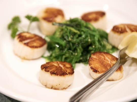 Sautéed scallops are made fresh at at Seafood Gourmet.