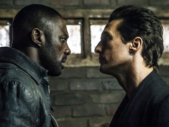 Roland (Idris Elba, left) and Walter (Matthew McConaughey) square off in 'The Dark Tower.'