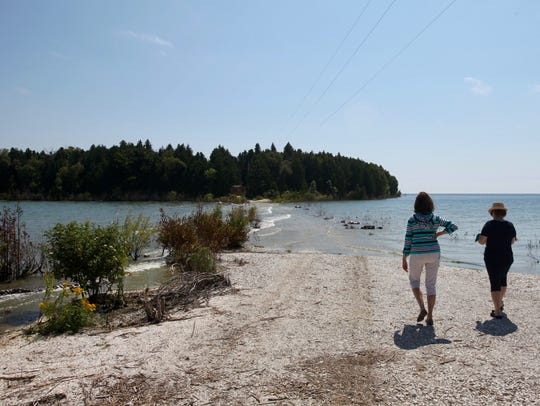 Cana Island off the shore of Door County. The Army Corps of Engineers is predicting higher water levels over the next six months.