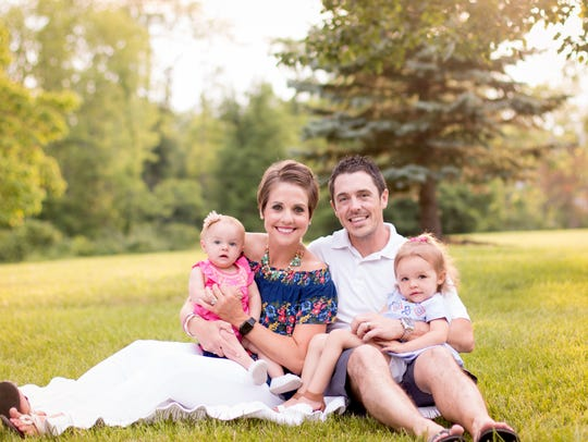 The Hoffers: Madison, 1, Whitney, 31,  Billy, 37, and