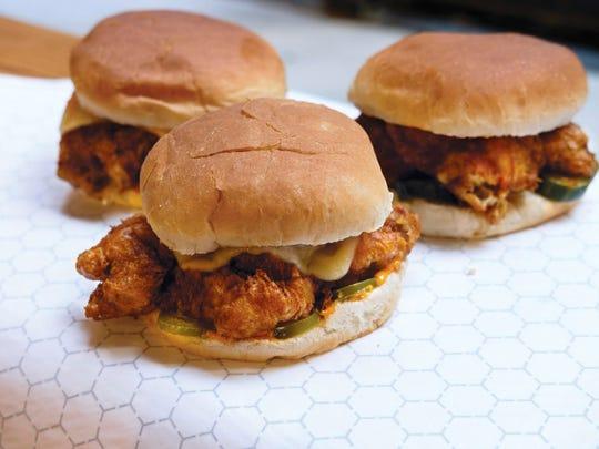 Chicken sandwiches at Delaney Chicken