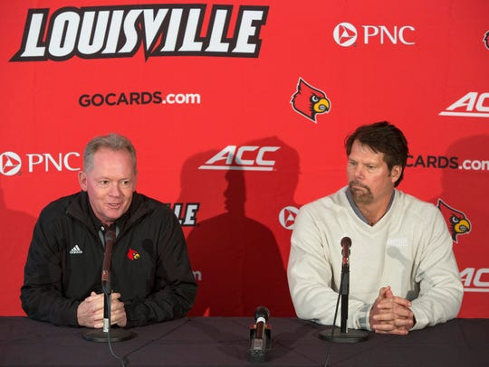 University of Louisville football coach Bobby Petrino,