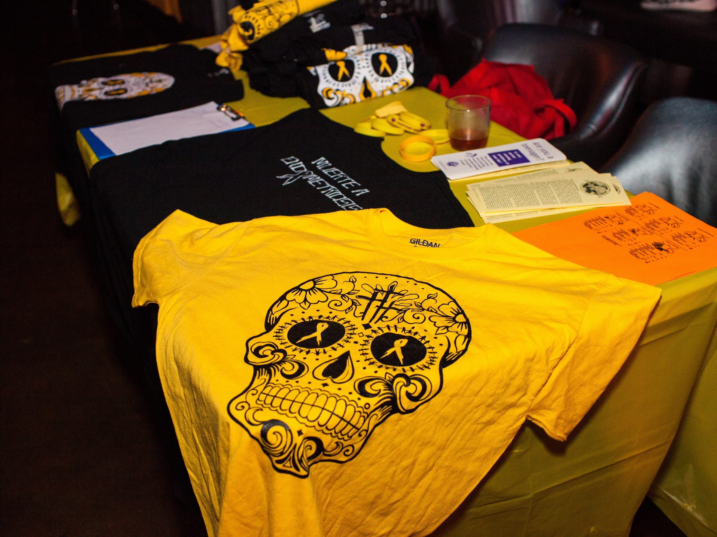 Shirts and merchandise on sale to raise funds for Team Doe for Endo at The Warehouse Bar.