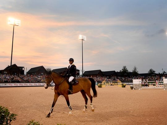 Equestrians competed in the $70,000 Carolina Arena