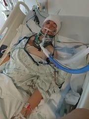 Logan Harter, 15, at Bronson Children's Hospital in