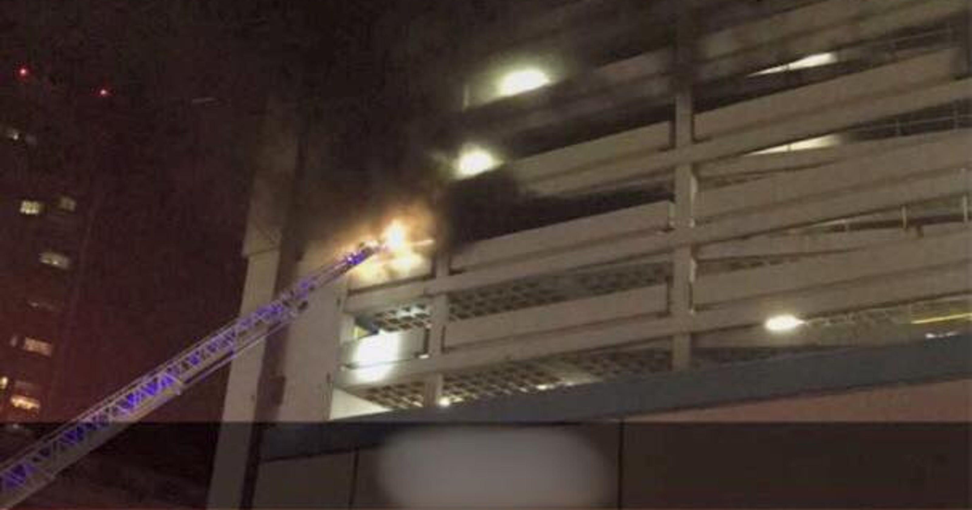 White Plains: Multiple cars catch fire in Walmart parking lot