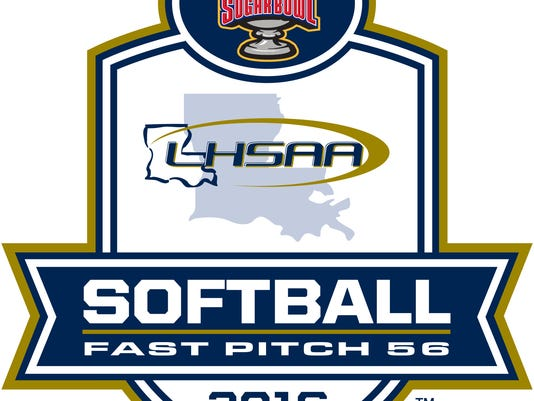 LHSAA softball logo