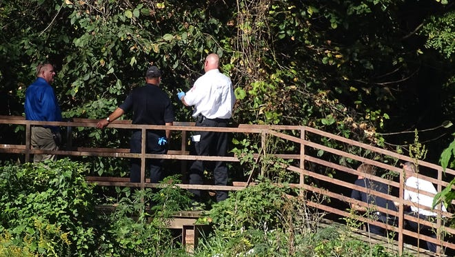 Authorities are investigating a body that was discovered in Chap's Run Creek Monday afternoon.