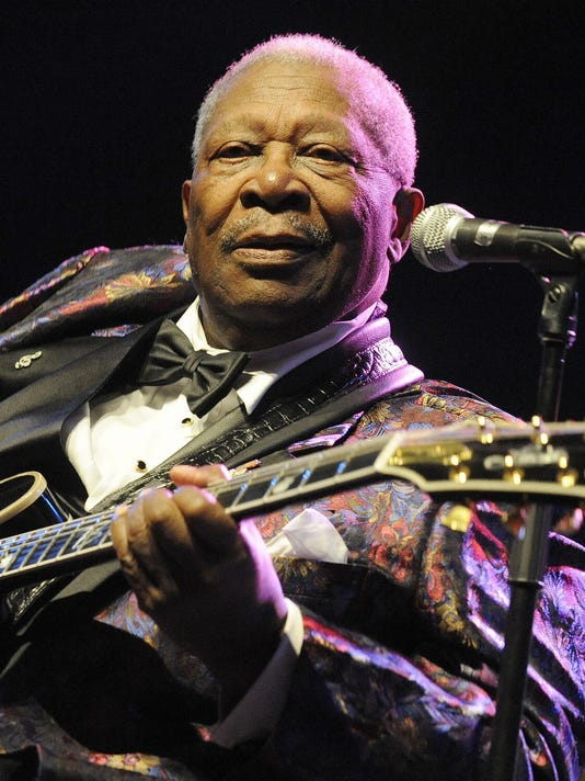 US blues legend BB King performs on stag