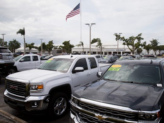 Rick Hendrick Chevrolet Naples, seen on Airport-Pulling Road on Wednesday, March 7, 2018, is being sued by former sales associates who allege they were cheated out of commissions.