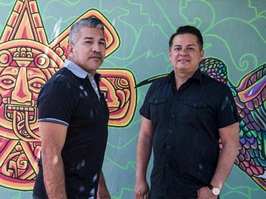 Tony Moya (right), and his partner, Santiago Serna. Moya was upset after reading a document on Facebook signed by several Latino religious and community leaders that declares that traditional Hispanic family values mean marriage is between a man and a woman. Moya, who was raised Catholic, is gay. He and Serna have set a date for their wedding.