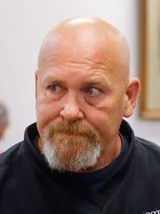 Robert McFatridge stands after entering an Alford plea