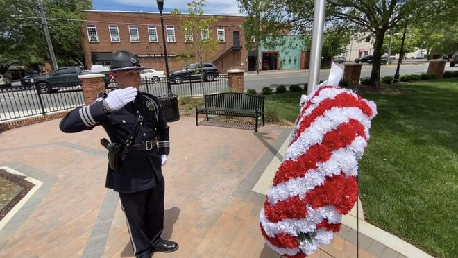 Road to Hope-Shelby is honoring each officer that has died in the line of duty with an end of watch ceremony on the anniversary of their death at the Fallen Hero Memorial in Shelby.