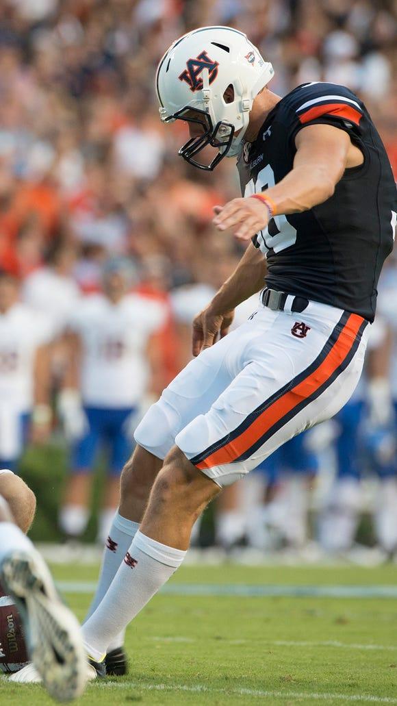 Auburn kicker Daniel Carlson was named SEC Special Teams Player of the Week.