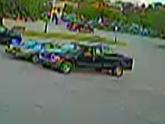 A suspect wanted for shoplifting at a Farmington CVS store was driving this pick-up truck.