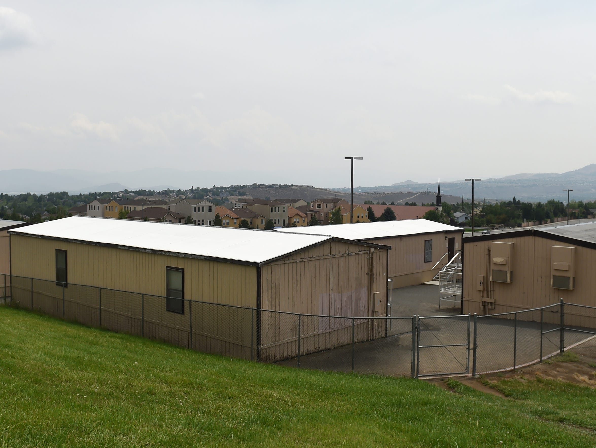 Portable units are used at McQueen High School.
