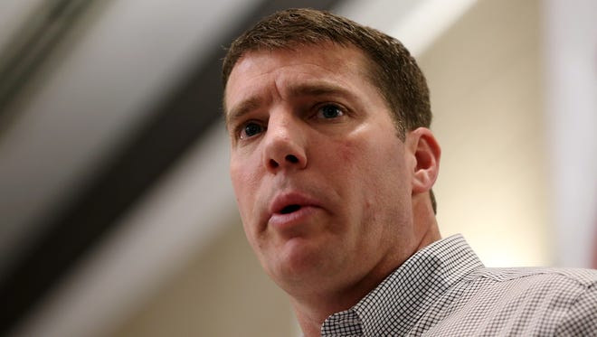 Rutgers football coach Chris Ash, shown speaking at the 44th annual Vince Lombardi Awards Banquet on  March 10 in Eatontown, attended the Coach Chris Ash Charity Golf Classic Monday at Fiddler's Elbow Country Club in Bedminster.
