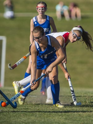 Colchester's Meg Lehouiller, seen in this file photo, helped the Lakers to a 5-0 win over Middlebury on Tuesday.