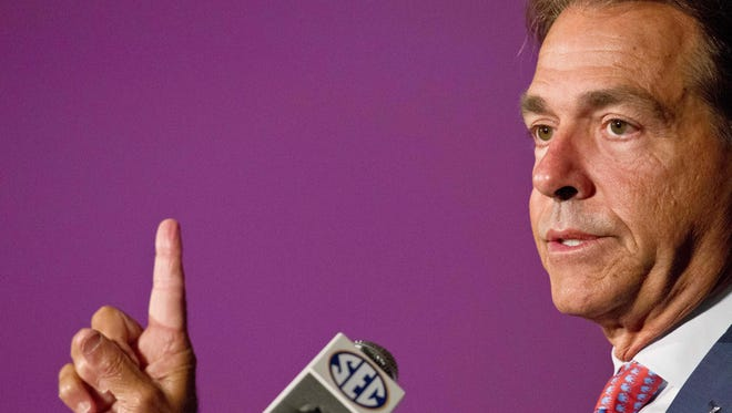 Alabama coach Nick Saban's team is the SEC media's pick to win the conference this season.