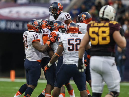 Syracuse rallied for a 21-17 win over Minnesota in the Texas Bowl.