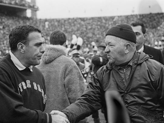 In this Nov. 19, 1966, file photo, Notre Dame football