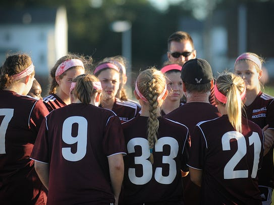 Snow Hill's girls soccer team meets before the first