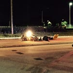 A motorcycle crash on Barnes Boulevard in Rockledge left one man with serious injuries