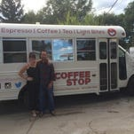 Nicole Durham and Mike Thieme bought a used school bus in Nebraska and turned it into The Coffee Stop, a mobile espresso truck.