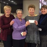 From left: Northern Dutchess Hospital President Denise George with Auxiliary Teasurer Muriel Karagianis and President Lois Chenkus, as well as Northern Dutchess Hospital Foundation Executive Director Dawn Morrison.