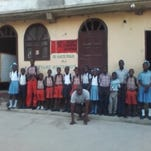 Students at one of the schools supported by Friends of Borgne.
