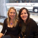 Cheryl Strayed, left, and her friend, CSU associate English professor, E.J. Levy. Strayed will give a free public talk April 2 as part of a CSU speaker series.
