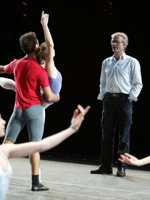 Ballet master in chief Peter Martins of the New York City Ballet watches dancers in 2004.
