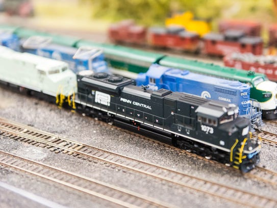 A train during a demo day at the Patcong Valley Model