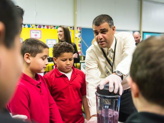 Purcesh Patel helps Durand students create healthy