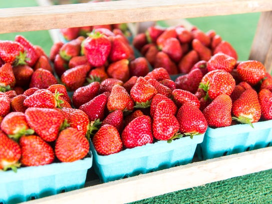 Strawberries waiting to be sold at Sparacio Farms in