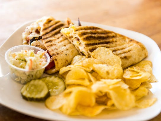 Chicken Toscana Panini at Friends And Family Diner