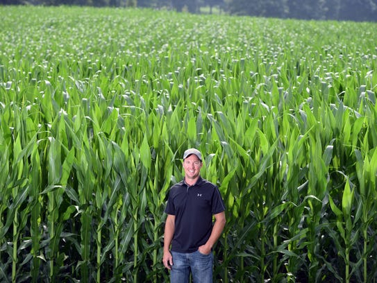 Kyle Croft, who farms near Keene with his father and