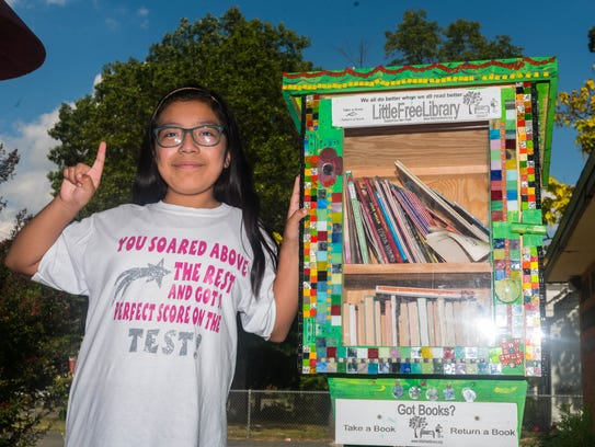 Leuchter School fourth grader Alexica Perez poses for